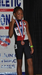 """Arion """" Brownie"""" Newby 6th Place in the Primary Girls 1500M"""