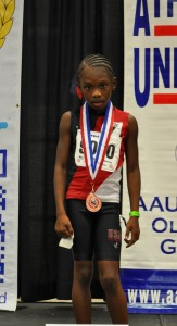 Karlie Wooten 8th Place in the Primary Girls - 800M Run