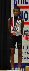 Lazarus Williams 4th Place in the Sub-Midget Boys 800M run 6th place in the Sub- Midget Boys 1500M run