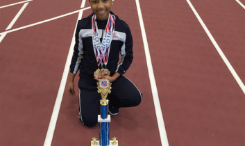 Alicia B:  AAU National Record Holder in 60m & 100m!