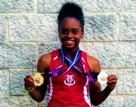 LaJarvia B: USATF Jr. World Athlete!